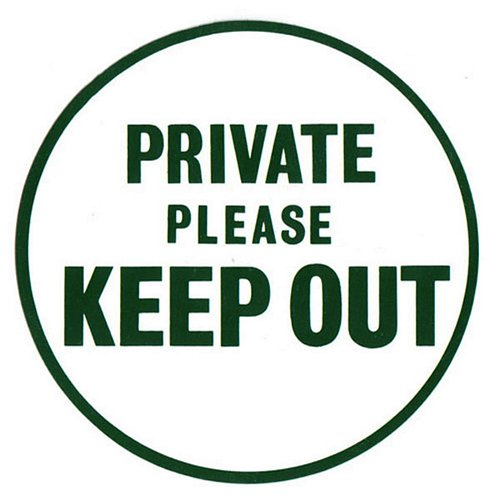 Private Please Keep Out Sign 163 2 95 Gamekeepa Feeds And