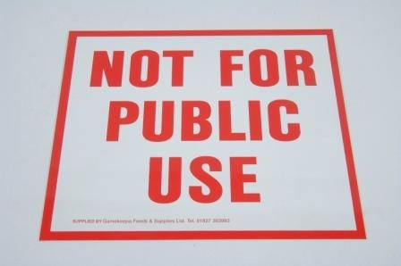 NOT FOR PUBLIC USE SIGN